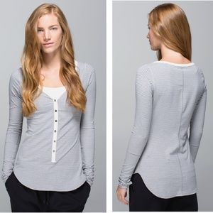 Lululemon | Awesoma Henley Hyper Stripe Ghost